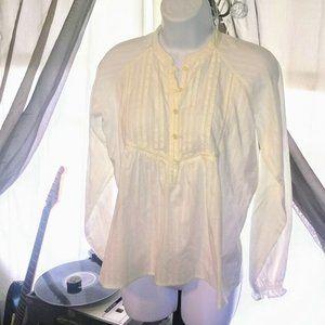 Polo Ralph Lauren White Pleated Peasant Tunic